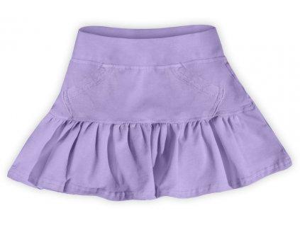 Dívčí (dětská) sukně,  LEVANDULOVÁ (světle fialová), velikost