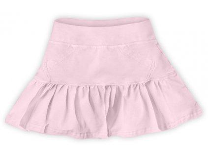 Dívčí (dětská) sukně,  SVĚTLE RŮŽOVÁ, velikost 86