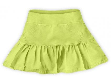 Dívčí (dětská) sukně,  SVĚTLE ZELENÁ, velikost
