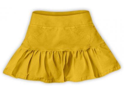 Dívčí (dětská) sukně,  ŽLUTOORANŽOVÁ, velikost
