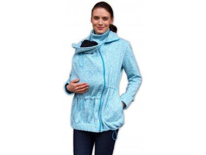 Nosící svetr Renata (přední nošení), tyrkysový
