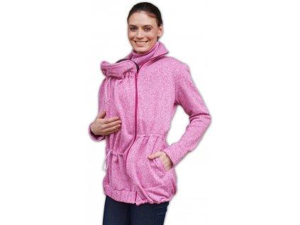 Nosící svetr Radka (přední/zadní nošení), růžový