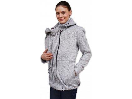 Nosící svetr Radka (přední/zadní nošení), šedý melír