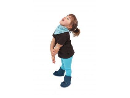 Dětské tričko, krátký rukáv, čokoládově hnědé, velikost