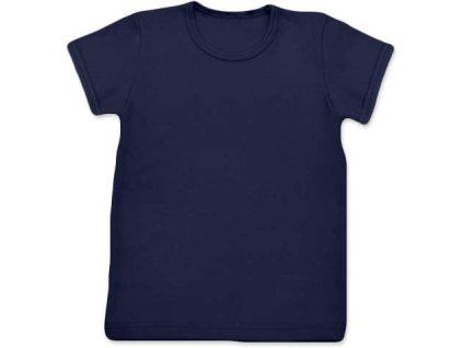 Dětské tričko, krátký rukáv, tmavě modré, velikost