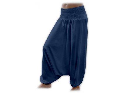 Těhotenské turecké kalhoty, tmavě modré (jeans)