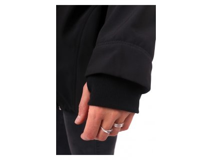 Softshellová těhotenská a nosící bunda Pavla 2, vínový melír