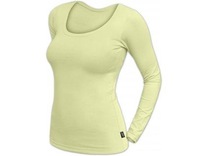 Dámské tričko Brigita, dlouhý rukáv, světle zelená,