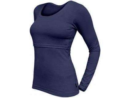 Kojicí tričko Kateřina, dlouhý rukáv, tmavě modré,