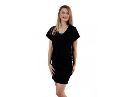 Kojící a těhotenské šaty Valerie, černé