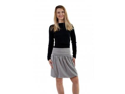 Těhotenská balonová sukně, šedý melír