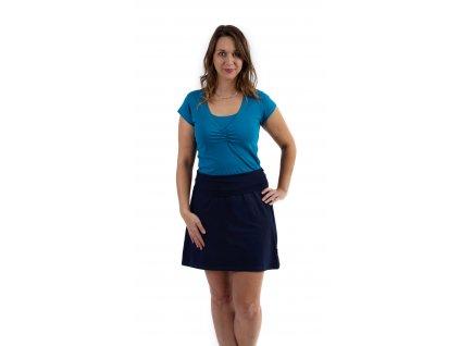 Těhotenská sukně Jolana, tmavě modrá
