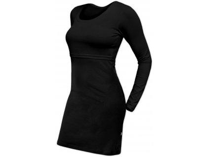 Kojicí šaty Elena, dlouhý rukáv, černé