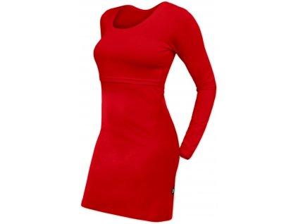 Kojicí šaty Elena, dlouhý rukáv, červené