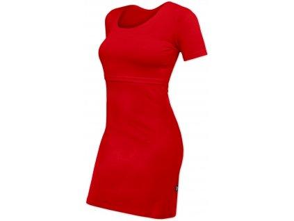 Kojicí šaty ELENA, krátký rukáv, červené