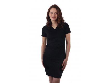 AMÁLIE- dámské šaty, krátký rukáv, černé,