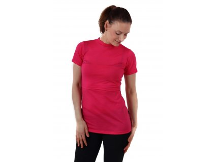 Merino vlněné kojicí tričko Meda, růžové,