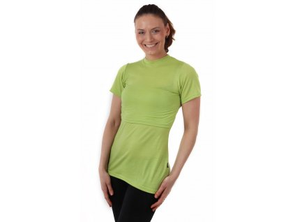 Merino vlněné kojicí tričko Meda, zelené,