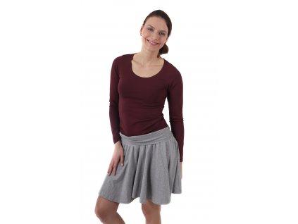 Těhotenská sukně kolová Olga, šedý melír,