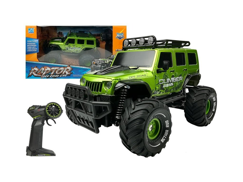 Auto na dalkove ovladani Raptor 1 18 zelene