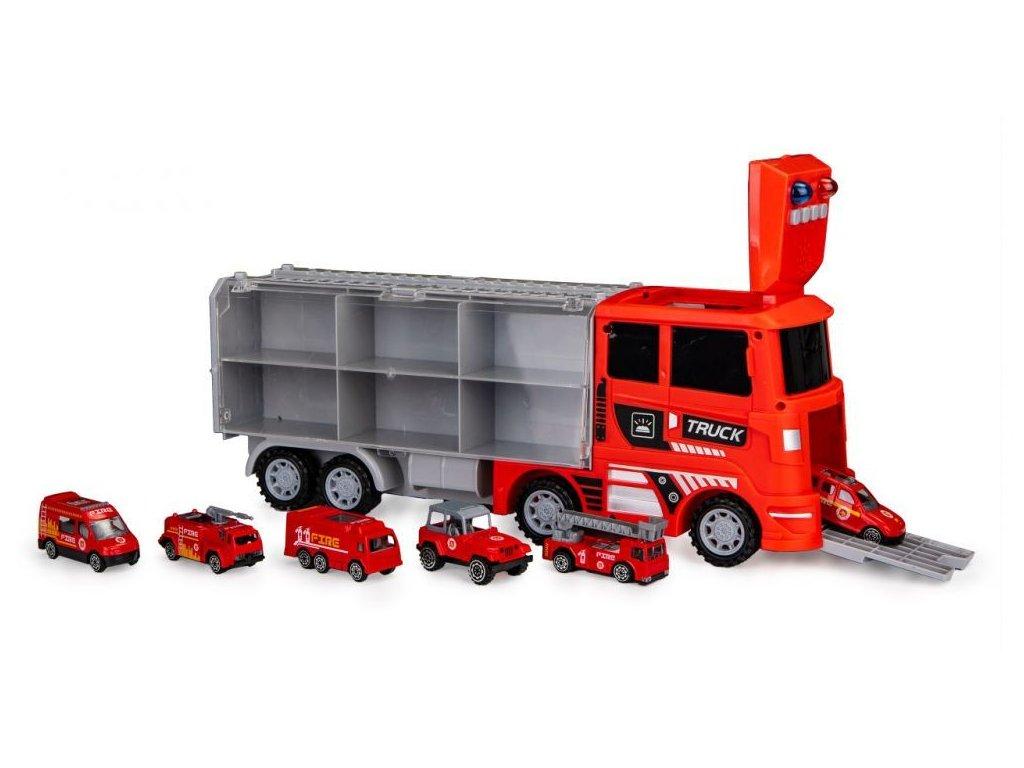 Ecotoys pozarni kamion se 6 auticky