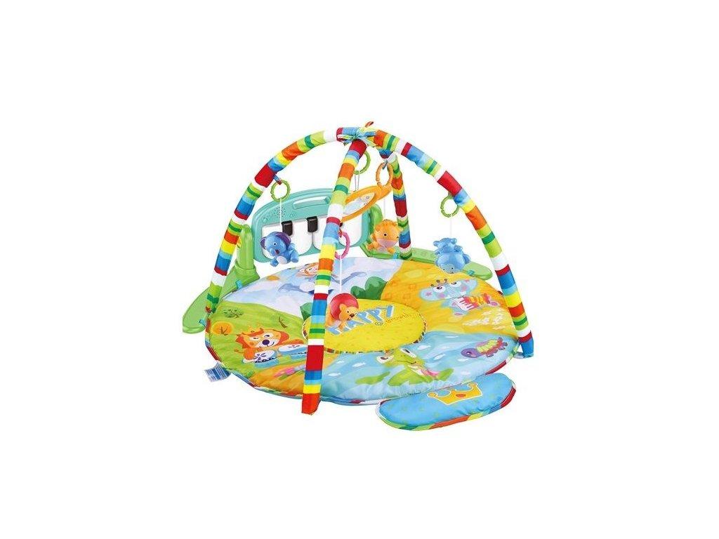 Haunger hrací deka XXL se 2 hrazdami a piankem Happy Zoo