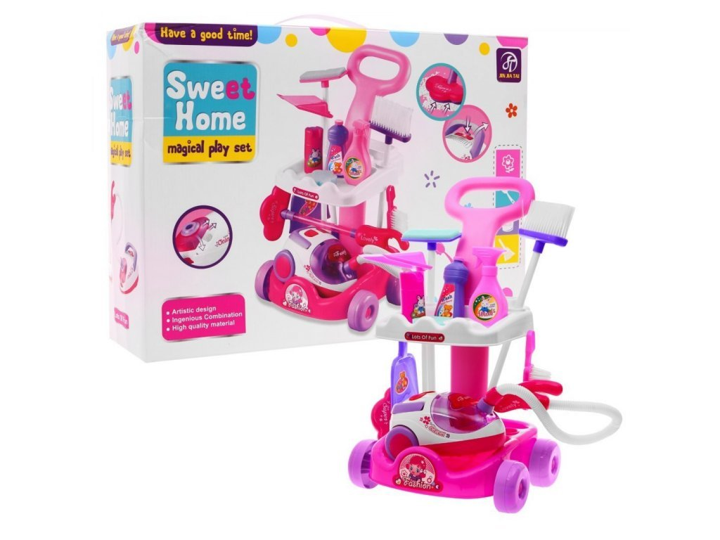 2369 majlo toys detsky upratovaci vozik s vysavacom sweet home