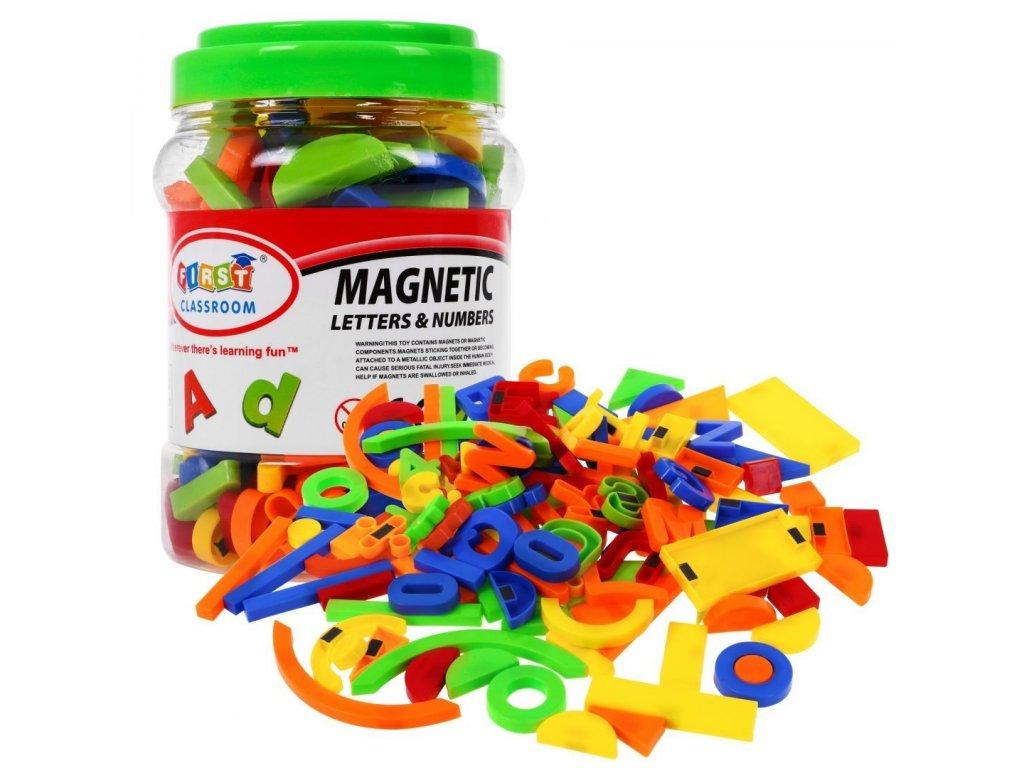 Magneticka pismenka a cislice 128 kusů