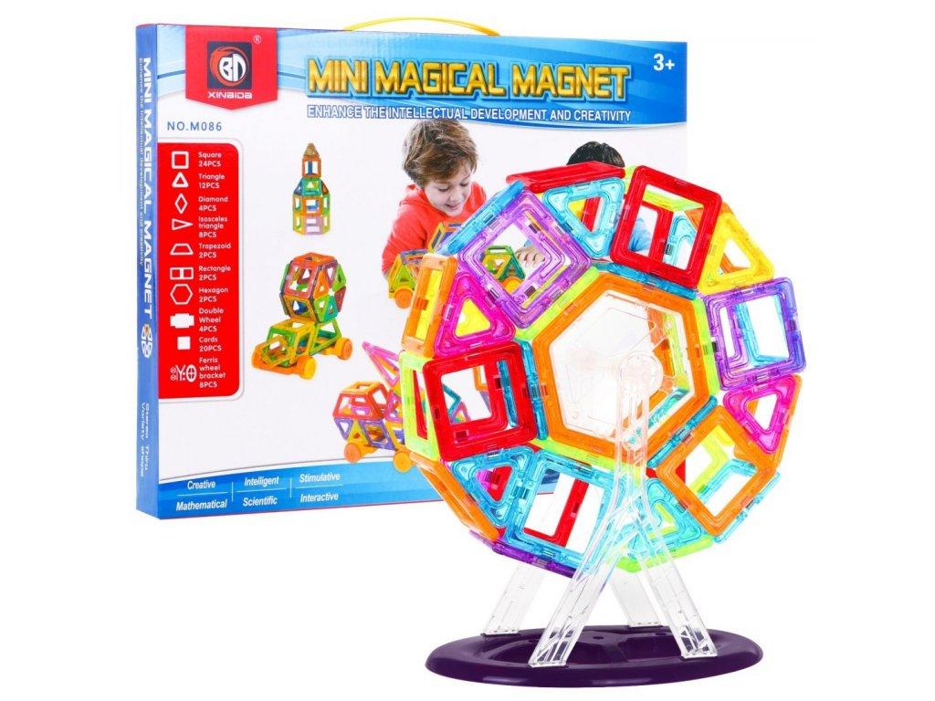 Magneticka stavebnice magic Magnet 86 dilku