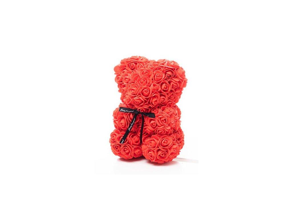 1964 medvedik z ruzi cerveny rose bear 25 cm