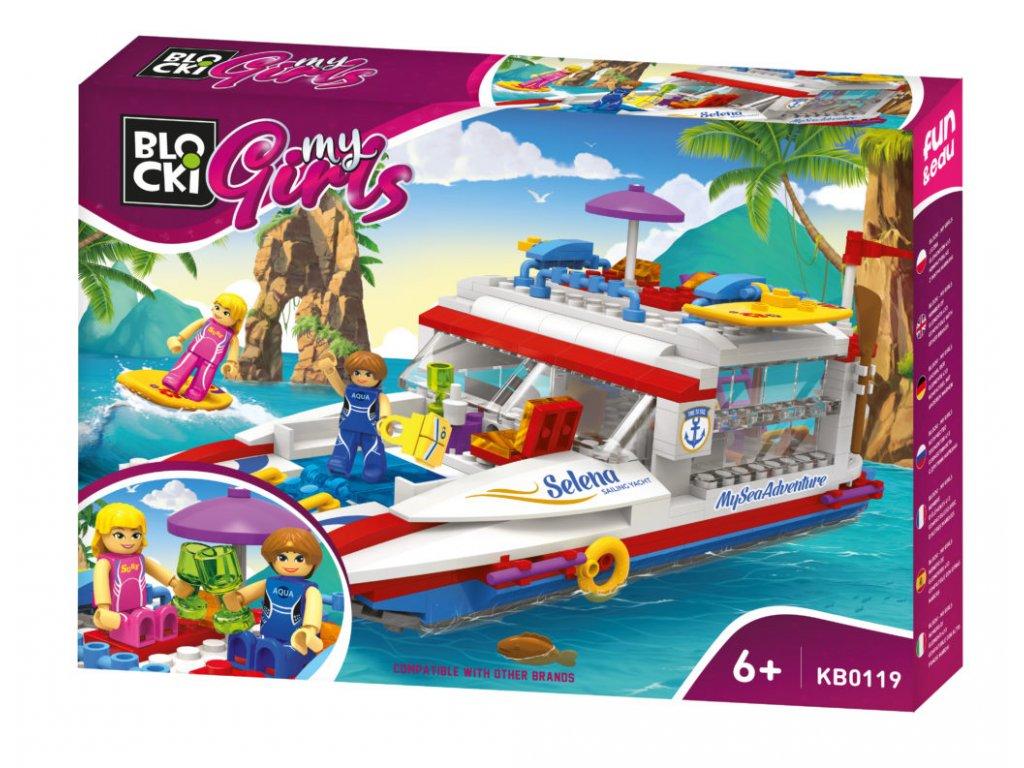 Blocki MyGirls morska jachta 408 dilku