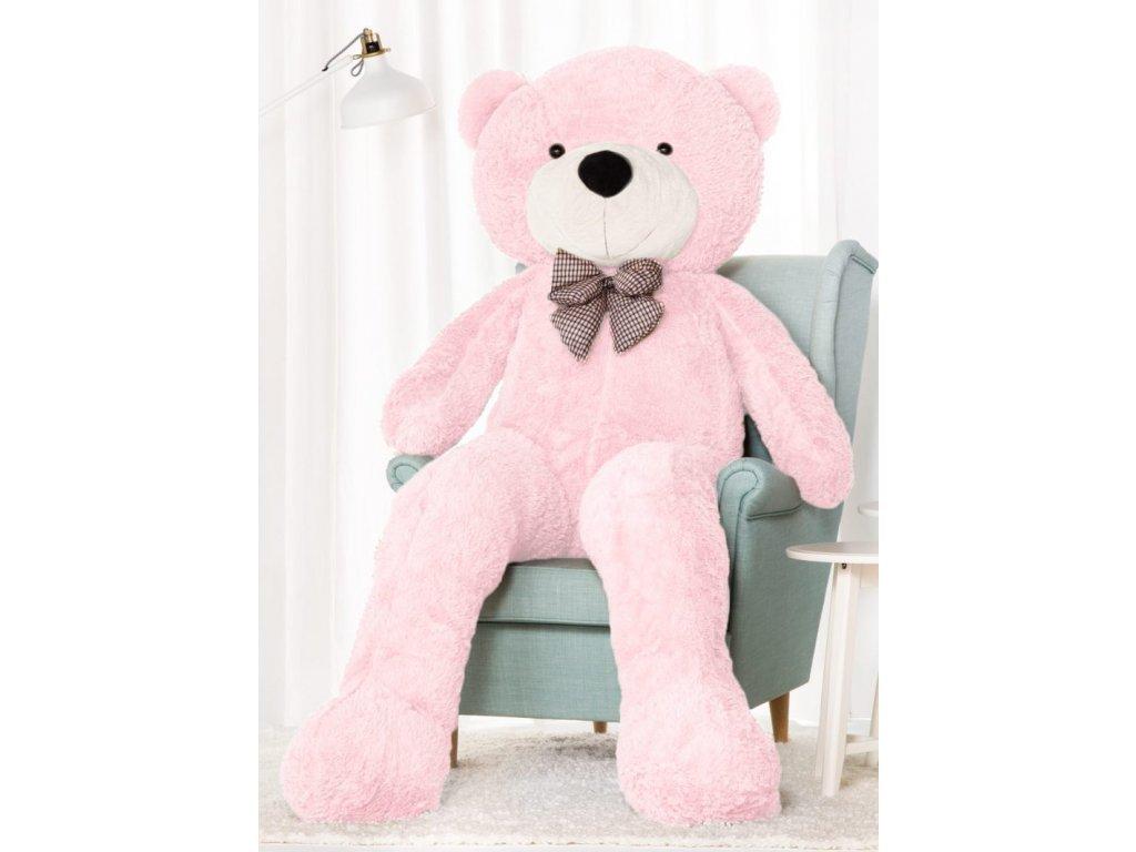 2042 plysovy medved kvido 190 cm xxl ruzovy