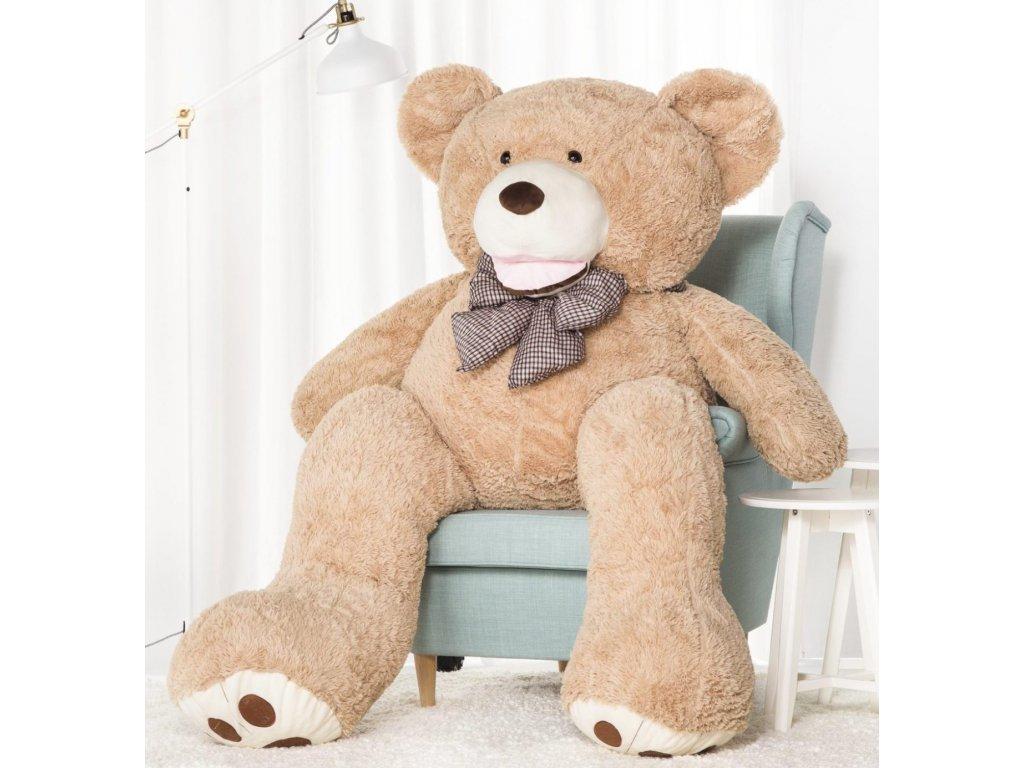 2270 plysovy medved maty 190 cm xxl bezovy