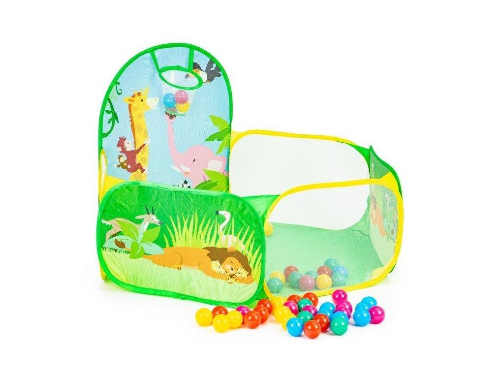 Ecotoys Animal World gyermeksátor + 50 színes labda