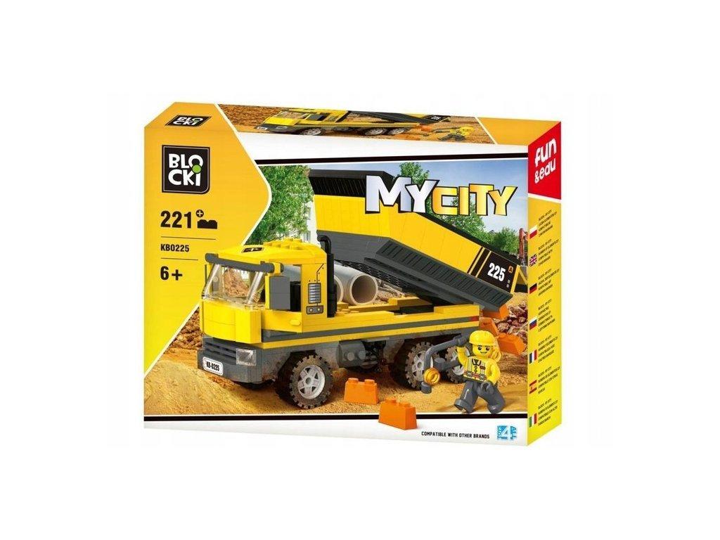 Blocki MyCity billenő teherautó 221 darabos