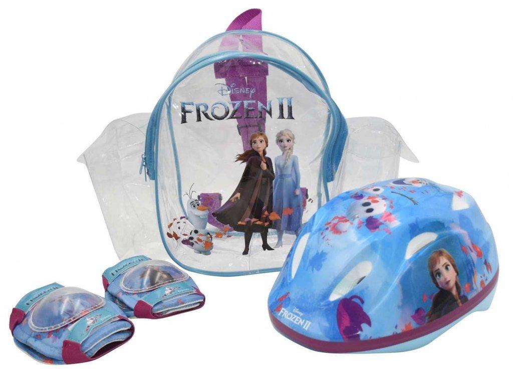 Volare Frozen II gyermek kerékpáros sisak + könyökvédőkéstérdvédők
