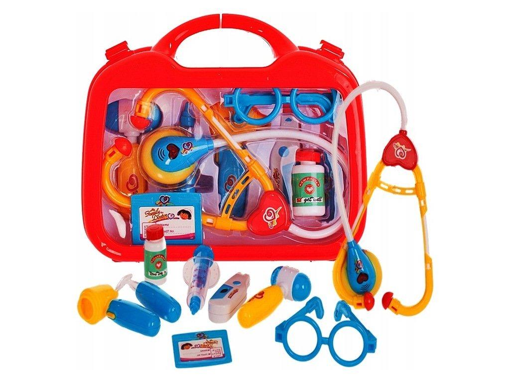 Doris Family Doctor elemes orvosi koffer gyerekeknek tartozékokkal piros