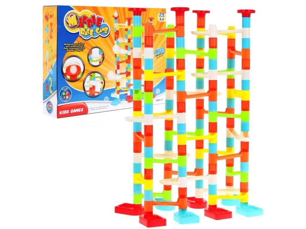 Majlo Toys Marble Race Golyópálya gyermekeknek 176 darabos