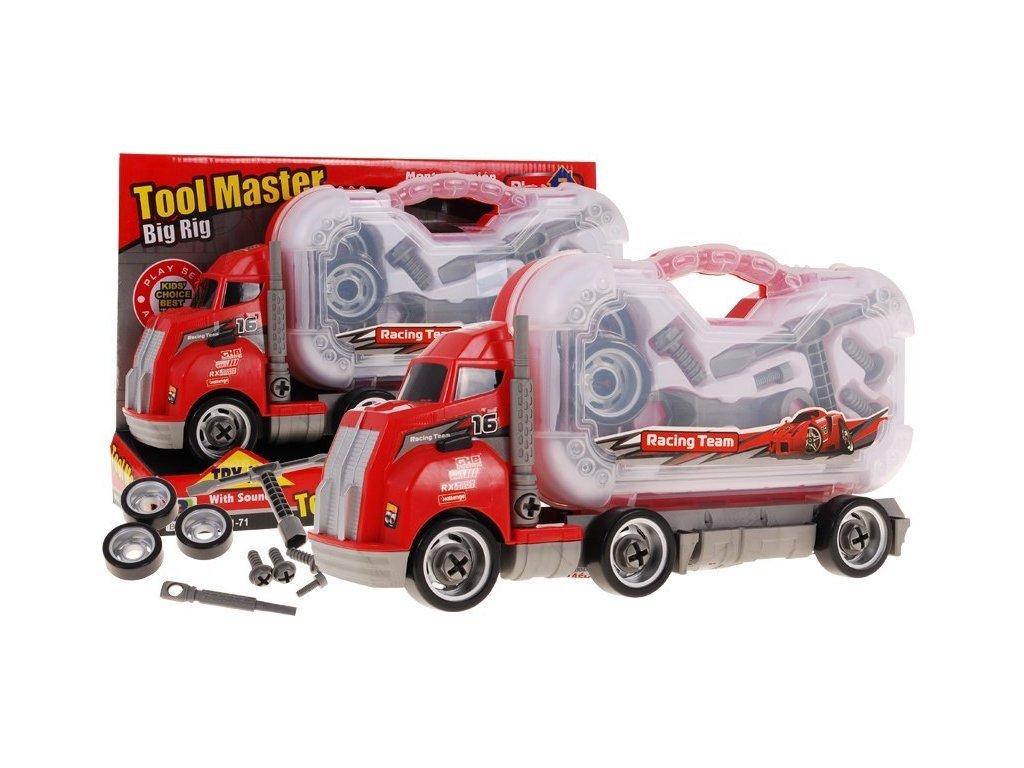 Majlo Toys Container Truck Csavarozható gyermek játékautó kofferral és hangokkal