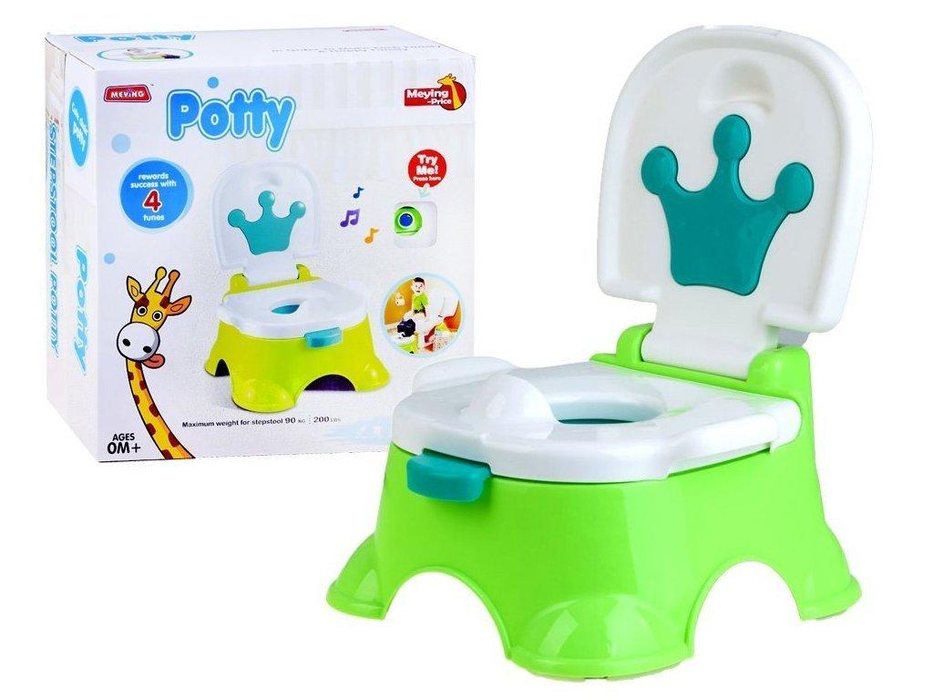 Majlo Toys Funny Potty interaktív zenélő bili 3 az 1-ben zöld