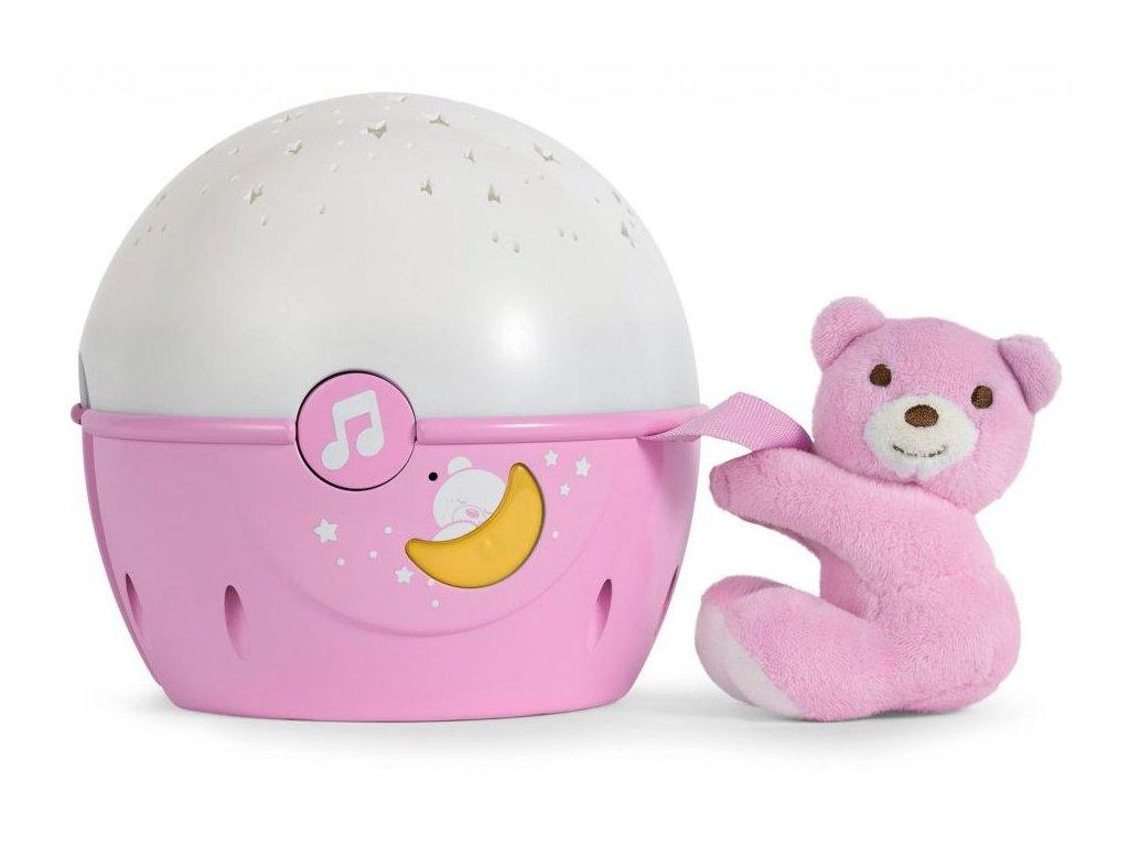 Chicco Next 2 Stars Maci vetítő dallamokkal rozsaszín