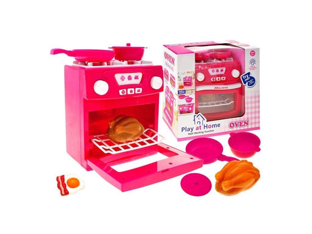 Majlo Toys Pink Oven gyermek tűzhely sütővel