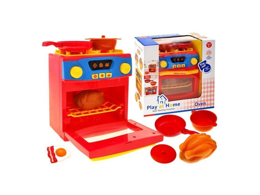 Majlo Toys Red Oven gyermek tűzhely sütővel