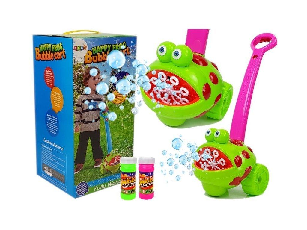 Happy Frog rózsaszín buborékfújó kerekekkel és dallamokkal