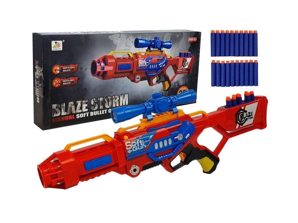 Játék géppisztoly Blaze Storm RED habpatronokkal
