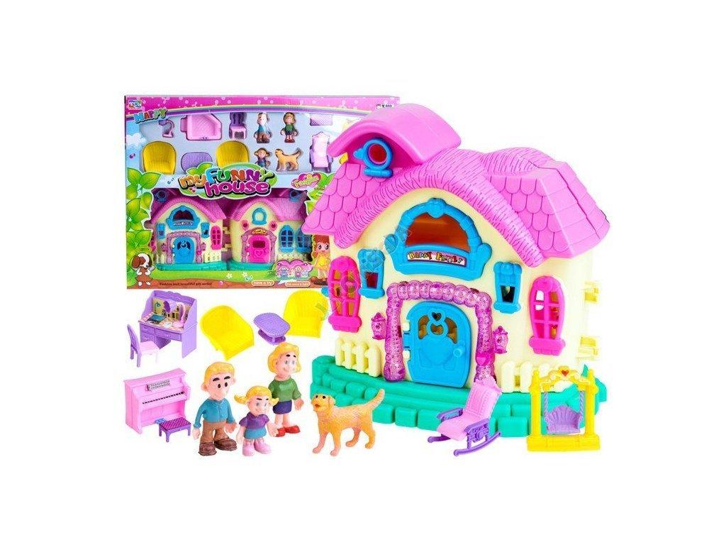 Összecsukható házikó figurákkal és bútorokkal My Funny House