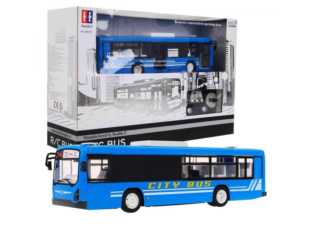 Autobus na dalkove ovladani 1 20 modry