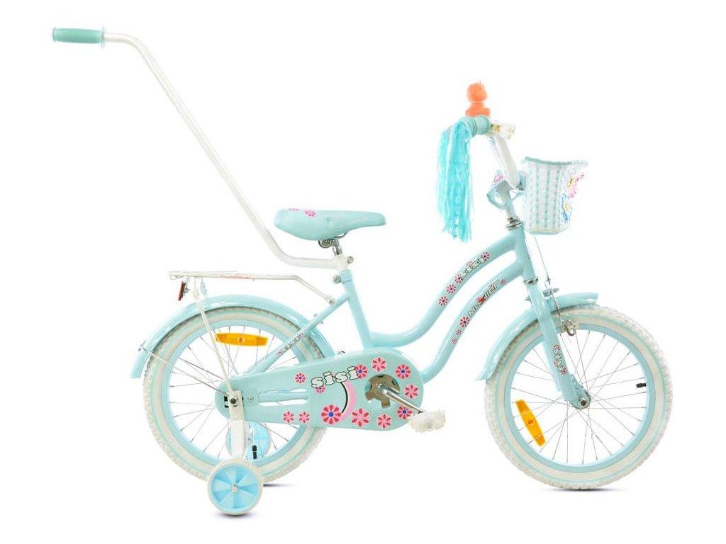 2861 detsky bicykel mexller sisi s vodiacou tycou blankytna 16