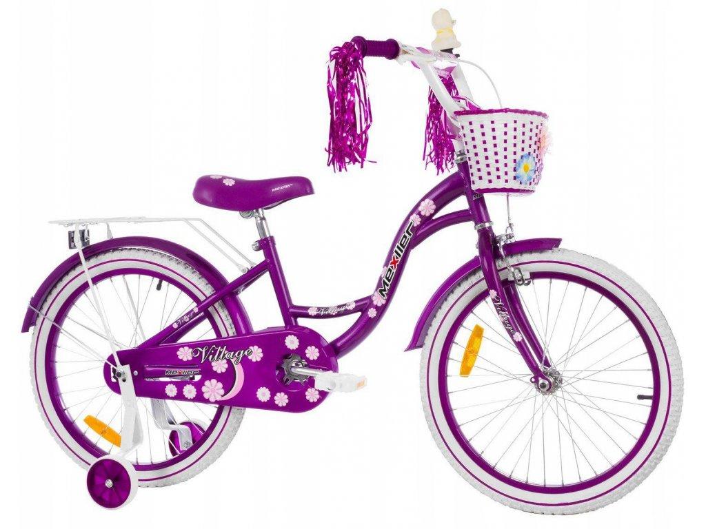 1118 5 detsky bicykel mexller village fialovy 20