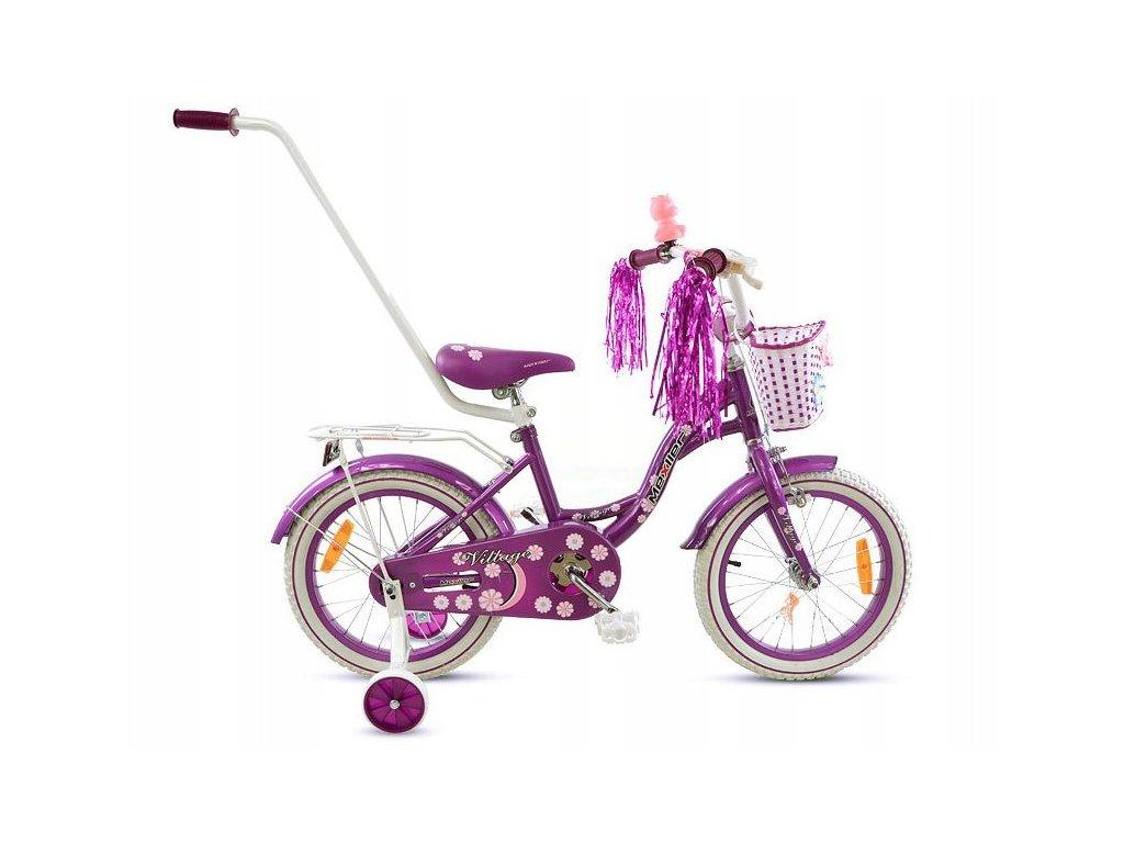 1070 detsky bicykel mexller village s vodiacou tycou fialovy 16
